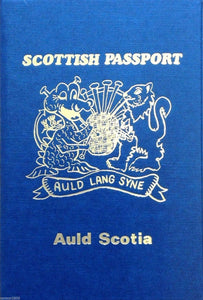 Quirky Novelty Scottish Passport - Fun for patriots and independence essential