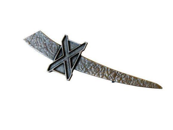 Stunning Saltire Pewter Kilt Pin in Matte Palladium Finish
