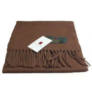 Superior 100% Lambswool Soft Touch Scottish Airntully Scarf Vicuna Brown