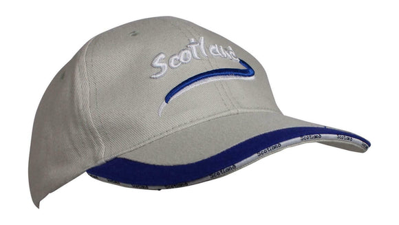 Glen Appin Of Scotland Stone Colour Cotton Scotland Baseball Golf Cap