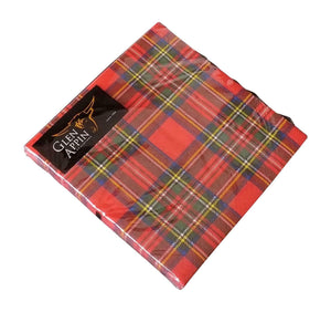 Glen Appin Of Scotland Scottish Red Royal Stewart Tartan 3 Ply Paper Napkins
