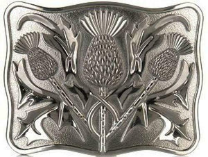 Stunning Scottish Celtic Thistle Kilt Belt Buckle - Antique Finish