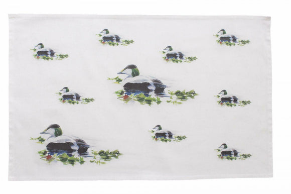 Orkney Storehouse Eider Drake Duck Kitchen Tea Towel