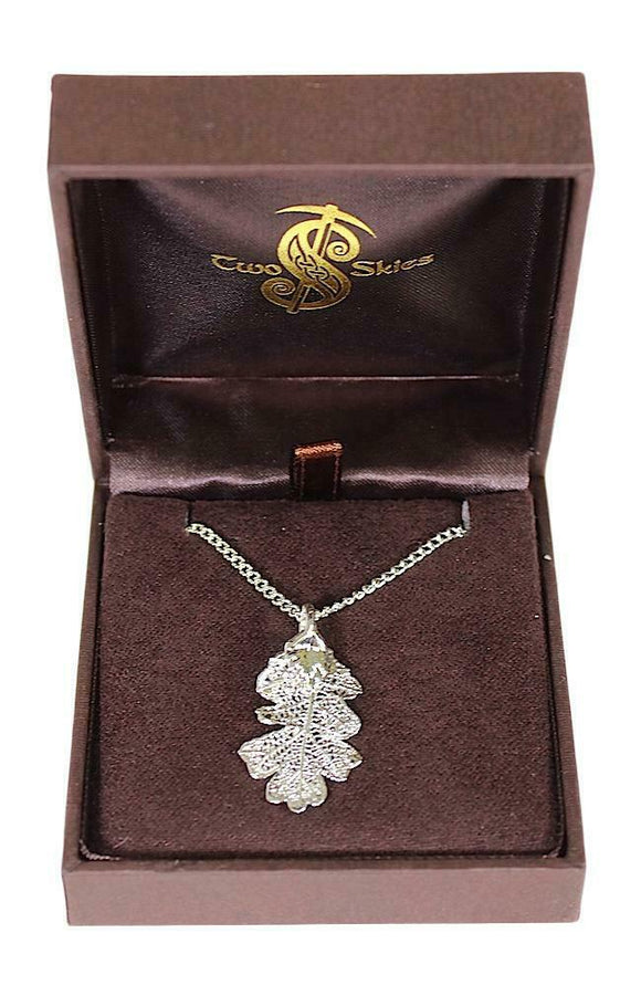 Two Skies Ltd Stunning Silver Plated Oak Leaf Necklace Pendant