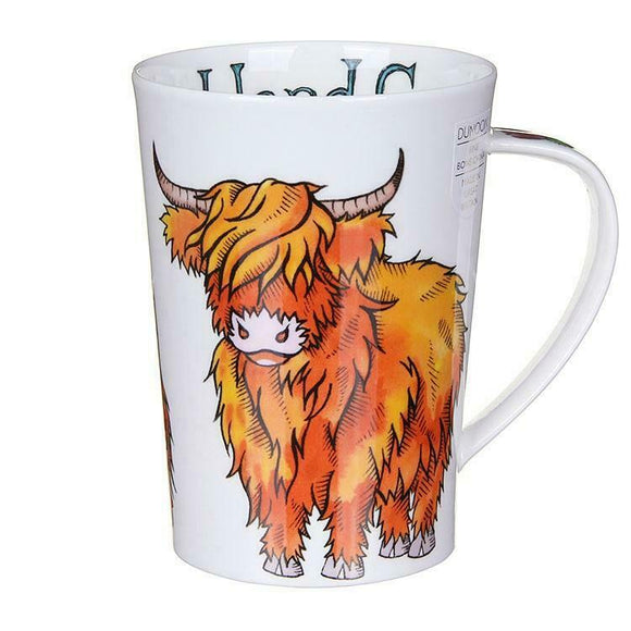Lovely Dunoon Scottish Highland Cow Bone China Mug Argyll Style