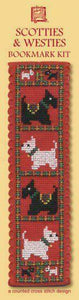 Scotties and Westies Black and White Dog Bookmark Cross Stitch Kit