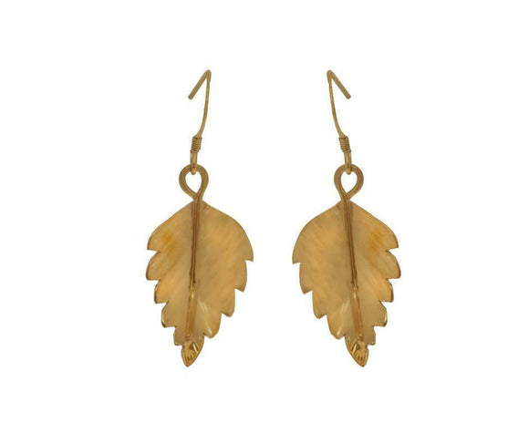 Claire Hawley Handcrafted Sterling Silver & Gold Vermeil Silver Birch Earrings
