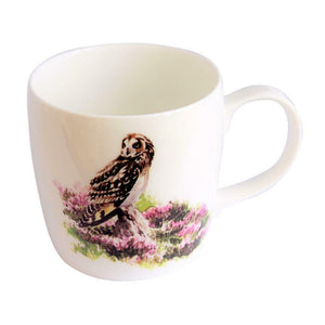 Orkney Storehouse Fine Bone China Short-Eared Owl Barrel Mug Cup
