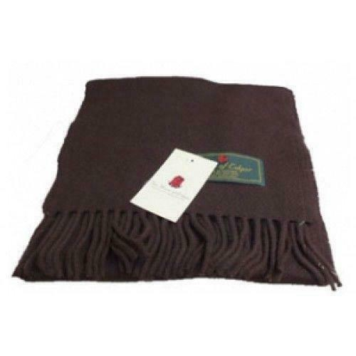 Superior 100% Lambswool Soft Touch Scottish Airntully Scarf Chocolate Brown