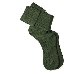 Thistles Shoes High Wool Content Calve Length Kilt Hose Socks in Lovat Green