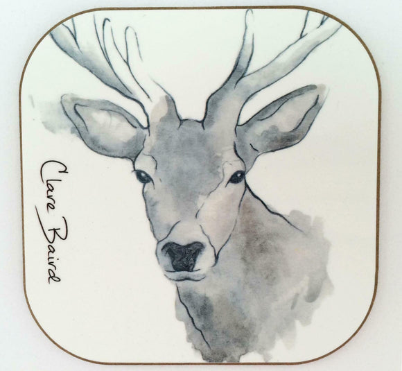Clare Baird Scottish Highland Stag Coaster Table Mat