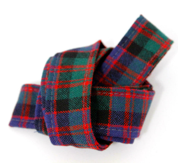 100 % Pure Wool Traditional Tartan Ribbon - 1 Inch x 54 Inches - MacDonald