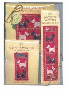 Scotties and Westies Counted Cross Stitch Gift Pack