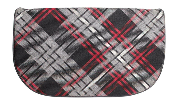 Tasteful Tartans Luxurious Auld Lang Syne Tartan & Black Suede Clutch Bag Purse
