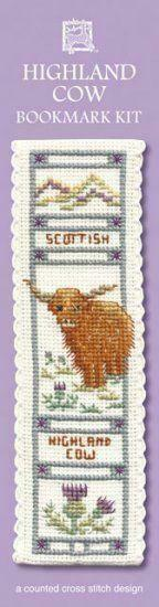 Scottish Highland Cow Coo Bookmark Cross Stitch Kit