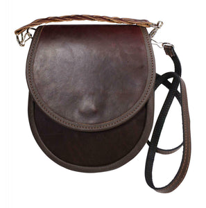 Fabulous Dark Brown Leather Traditional Sporran Handbag