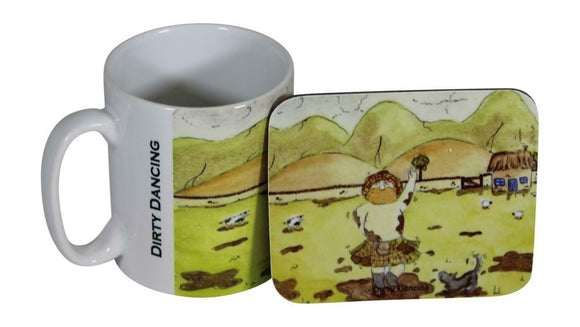 Jubbly Jock Quirky Scottish Humour Movie Mug & Coaster Set - Dirty Dancing