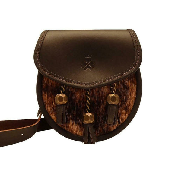 Nixey 1834 Classic Collection Brown Natural Leather Sporran Handbag Purse