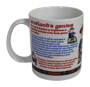 "Innes & Cromb Scottish ""A Stroke Of Genius"" Comical Funny Fine Bone China Mug"