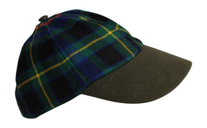 100% Pure New Wool Irish County Tartan Baseball Cap - County Offaly