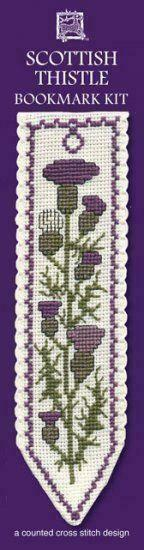 Scottish Thistle Bookmark Cross Stitch Kit