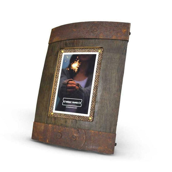 Whisky Whiskey Barrel 4 x 6 Bilge Rustic Photo Picture Frame