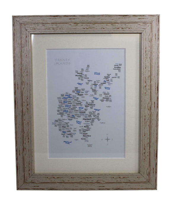 Art By The Loch Handmade Scottish Orkney Islands Word Art Picture