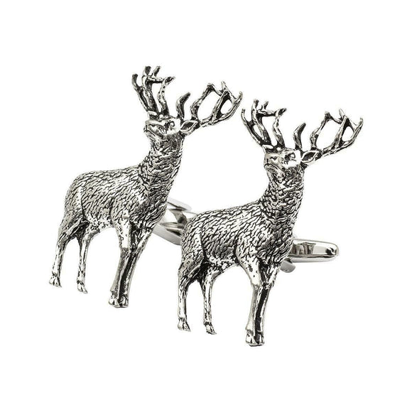 Onyx Art London Scottish Highland Stag Mens Cufflinks