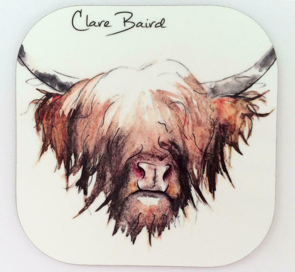 Clare Baird Scottish Highland Cow Coo Coaster Table Mat