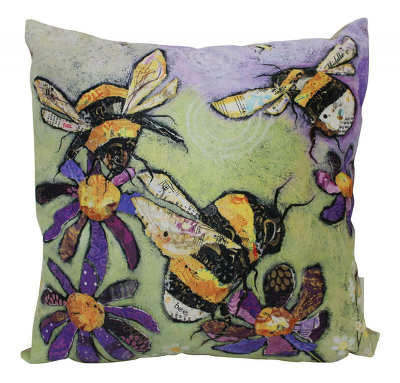 Dawn Maciocia 'Humble Bumble' Bumble Bee Soft Cushion