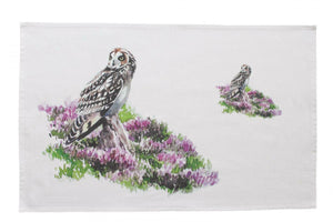 Orkney Storehouse Short-Eared Owl Kitchen Tea Towel