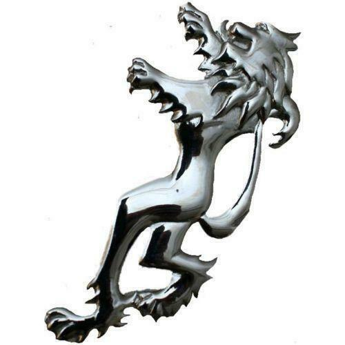Scottish Lion Rampant Celtic Kilt Pin - Polished Chrome Finish