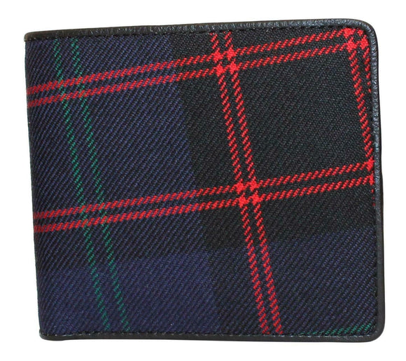 100% Scottish Tartan & Real Leather Mens Wallet  - Home/ Hume
