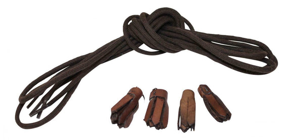 Brown Ghillie Brogue Laces and Tassels Kilt Shoe Replacements