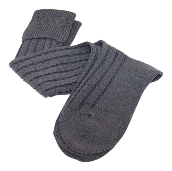 Thistle Shoes Calve Length Budget Kilt Hose Socks in Charcoal Grey