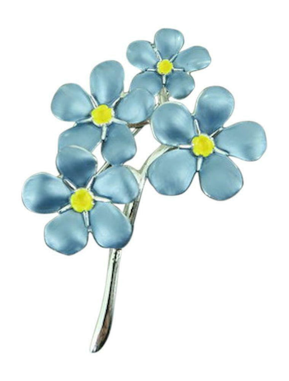 Alexander Thurlow Blue Forget-Me-Knot Brooch Pin