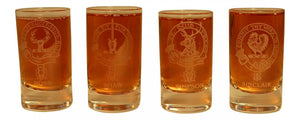 Collins Glencairn Clan Crest Crystal Dram Tot Glass - Ross Shaw Simpson Sinclair
