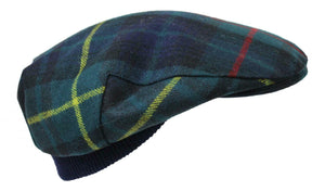 100% Regimental Heavy Weight Tartan Winter Wool Flat Cap - Stewart Modern Hunting