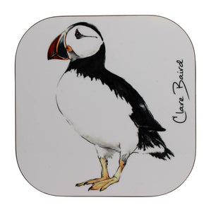 Clare Baird Scottish Highland Puffin Coaster Table Mat