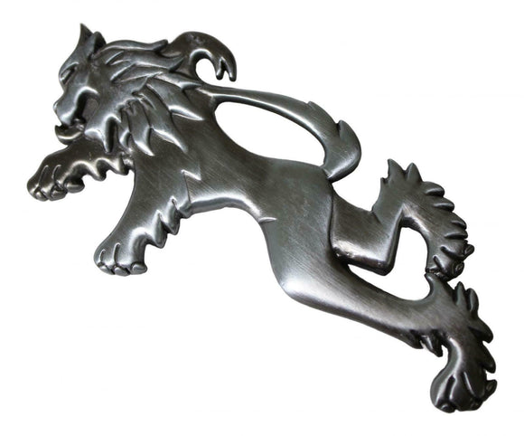 Scottish Lion Rampant Celtic Kilt Pin - Brushed Antique Finish