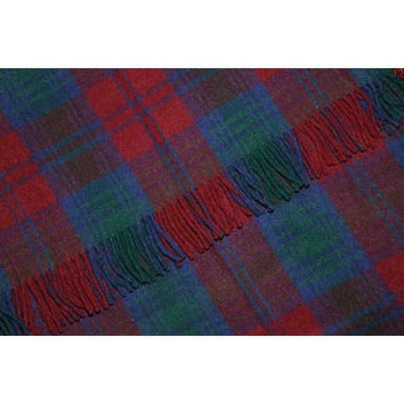Stunning Scottish Large Tartan Serape / Wrap / Shawl New Wool - 14 Tartans