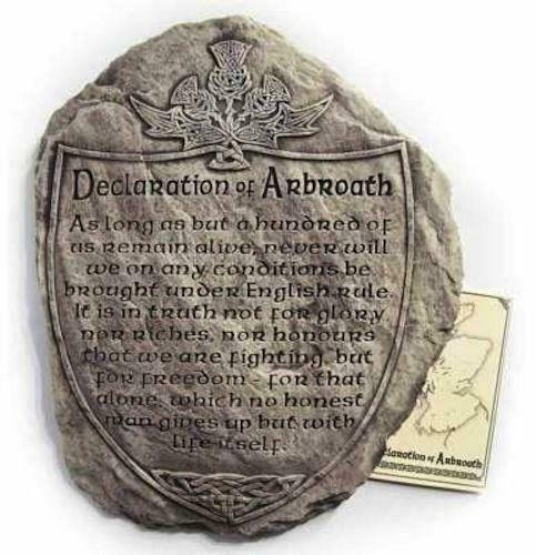 Declaration of Arbroath Scottish Wall Plaque / Hanging / Sign - Made in Scotland