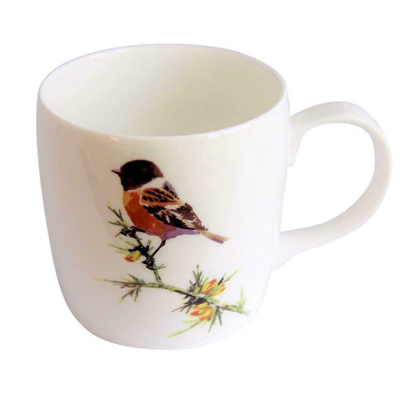 Orkney Storehouse Fine Bone China Stonechat Barrel Mug Cup