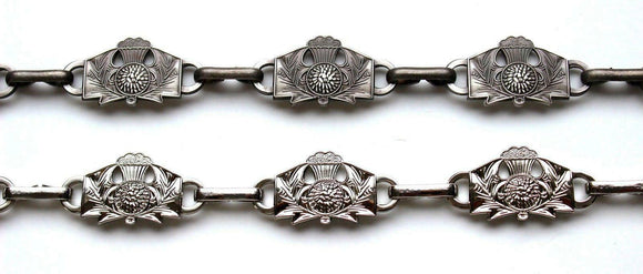Stunning Contemporary Thistle Sporran Chain. Available in Antique and Chrome