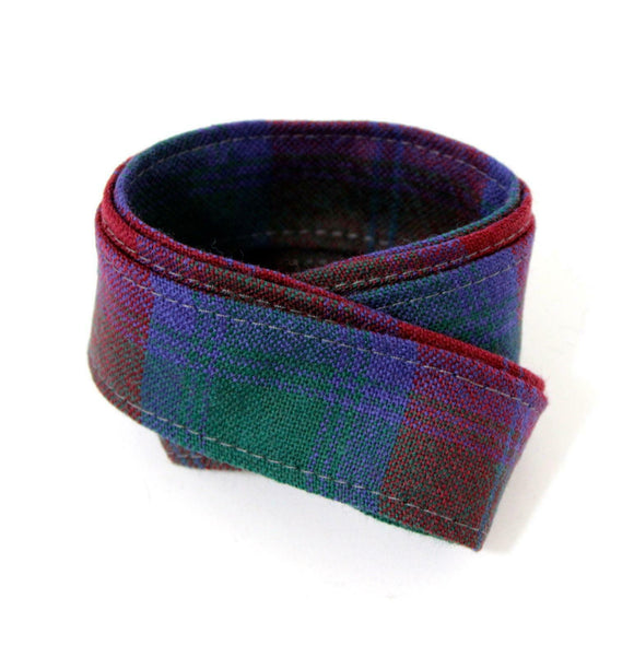 100 % Pure Wool Traditional Tartan Ribbon - 1 Inch x 54 Inches - Lindsay