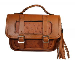 Fabulous Scottish Brown Tan Leather Small Traditional Satchel