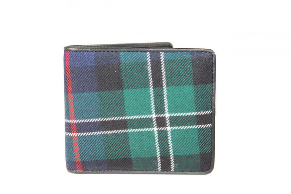 100% Scottish Tartan & Real Leather Mens Wallet - Rose Ross Hunting