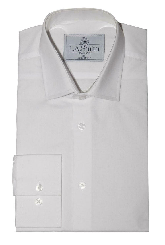 Brilliant White Plain Standard Collar Dress Kilt Wedding Shirt Boys Child