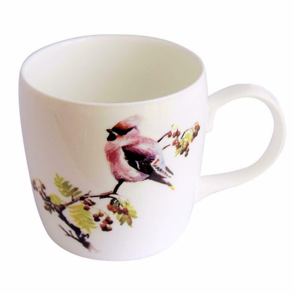 Orkney Storehouse Fine Bone China Waxwing Barrel Mug Cup
