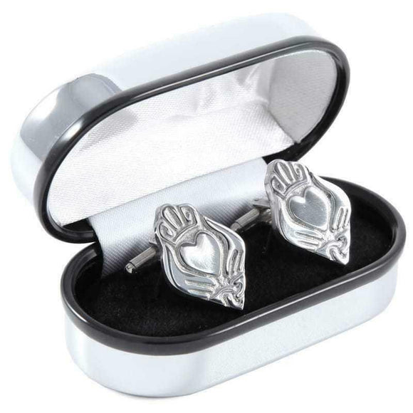 Pewtermill Irish Claddagh Cufflinks - Made In Scotland